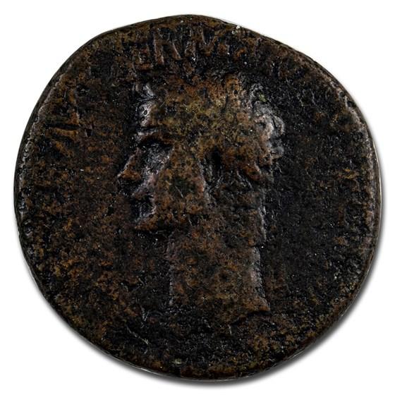 Roman Empire AE Sestertius Emp Caligula (37-38 AD) Fine RIC I 37