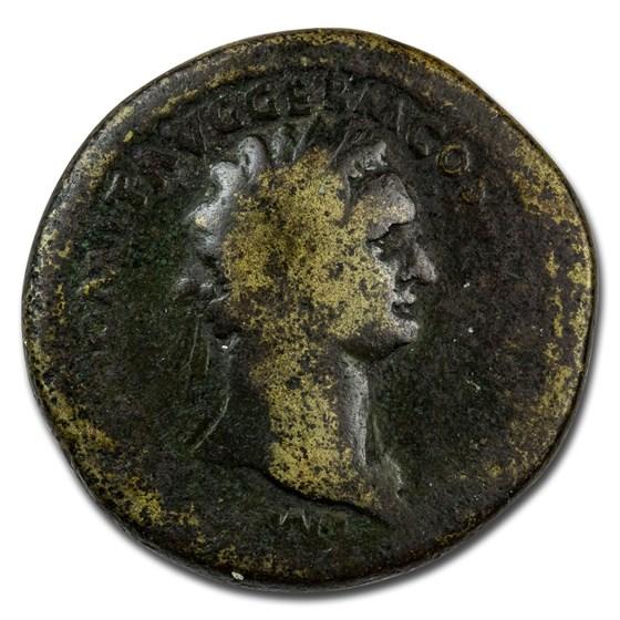 Roman Empire AE Sestertius Emp Domitian 81 AD Good (RIC II 278)