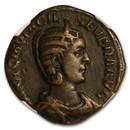 Roman Empire AE Sestertius Otacillia Severa (244-49 AD) Ch VF NGC