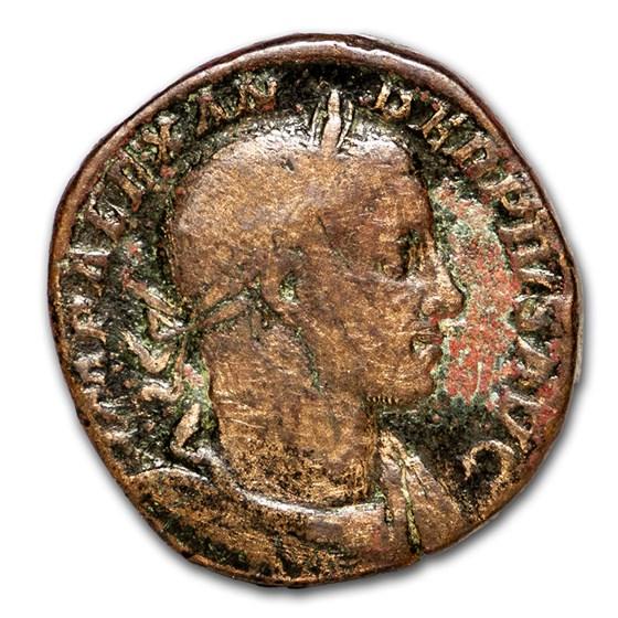 Roman Empire AE Sestertius Sev Alexander 232 AD Fine (RIC IV 635)