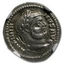 Roman Empire AR Argenteus Emp. Maximian (286-310 AD) XF NGC