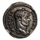 Roman Empire AR Argenteus Galerius 305-311 AD Ch XF NGC