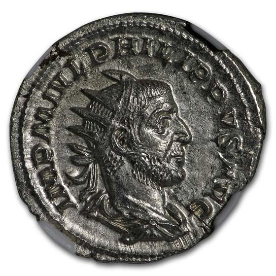 Roman Empire AR Dbl. Denarius Phillip I (244-249 AD) NGC MS