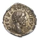 Roman Empire AR Denarius Antoninus Pius 138-161 AD Ch MS NGC