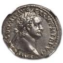 Roman Empire AR Denarius Domitian (81-96 AD) AU NGC RIC II.1 669