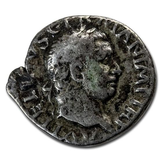 Roman Empire AR Denarius Emp Vitellius (69 AD) Fine (RIC I 90)