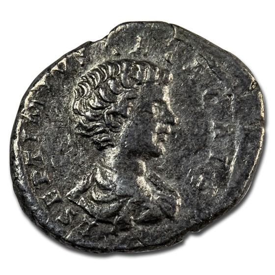 Roman Empire AR Denarius Geta 198-200 AD VF (RIC IV 94)
