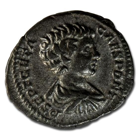 Roman Empire AR Denarius Geta 200-205 AD VF (RIC IV 18)