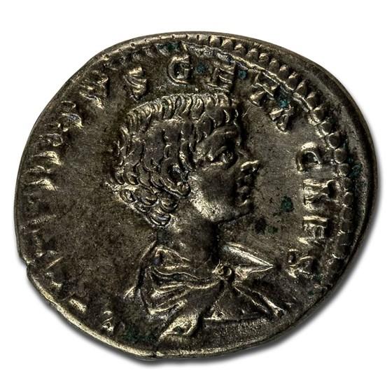 Roman Empire AR Denarius Geta 200-205 AD VF (RIC IV 38a)