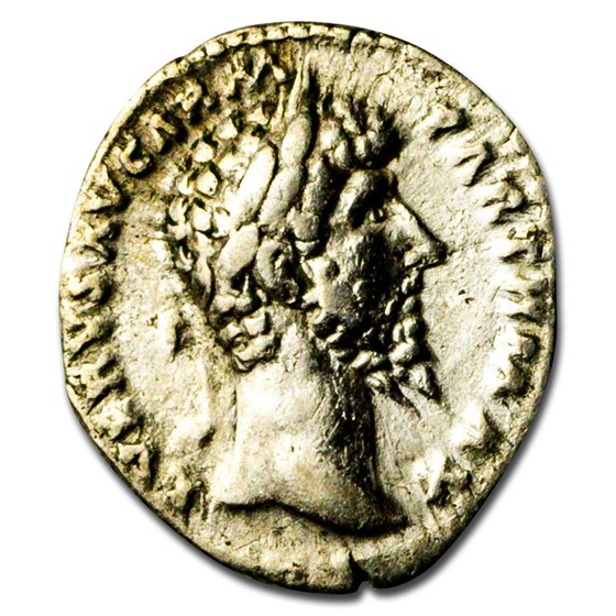 Roman Empire AR Denarius L. Verus (161-169 AD) Ch VF (RIC 566)