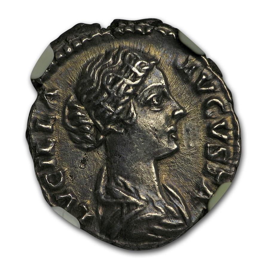 Roman Empire AR Denarius Lucilla (164-182/3 AD) Ch XF NGC