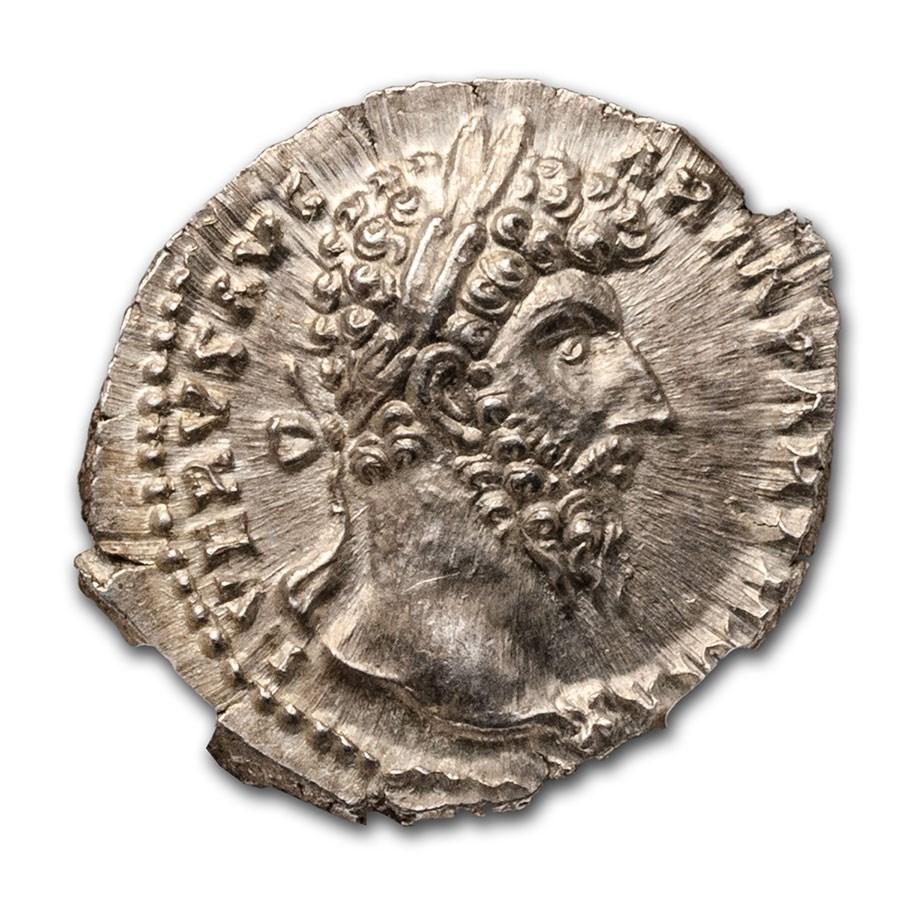 Roman Empire AR Denarius Lucius Verus (161-169 AD) Ch MS NGC