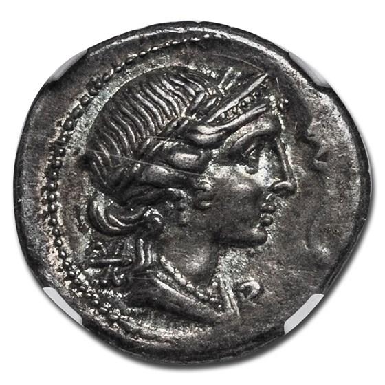 Roman Empire AR Denarius M. Aem Lepidus (61/58 BC) Ch XF NGC