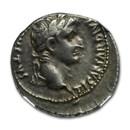 Roman Empire AR Denarius Tiberius (14-37 AD) Ch VF NGC (RIC I 4)