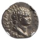 Roman Empire AR Denarius Titus (79-81 AD) XF NGC (RIC II 128)