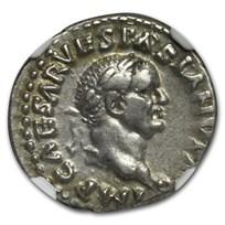 Roman Empire AR Denarius Vespasian (69-79 AD) XF NGC (RIC II 29)