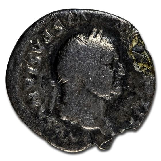Roman Empire AR Denarius Vespasian (77-78 AD) Good (RIC II 359)