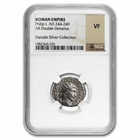 Roman Empire AR Double Denarius Philip I (244-249 AD) VF NGC