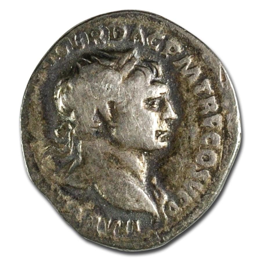 Roman Empire AR Quinarius Trajan (98-117 AD) Ch VF
