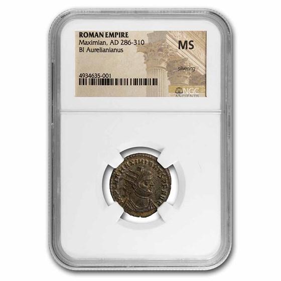 Roman Empire BI Aurelianianus Maximian (286-310 AD) MS NGC