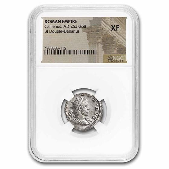 Roman Empire BI Dbl Denarius Emp. Gallienus (253-268 AD) XF NGC