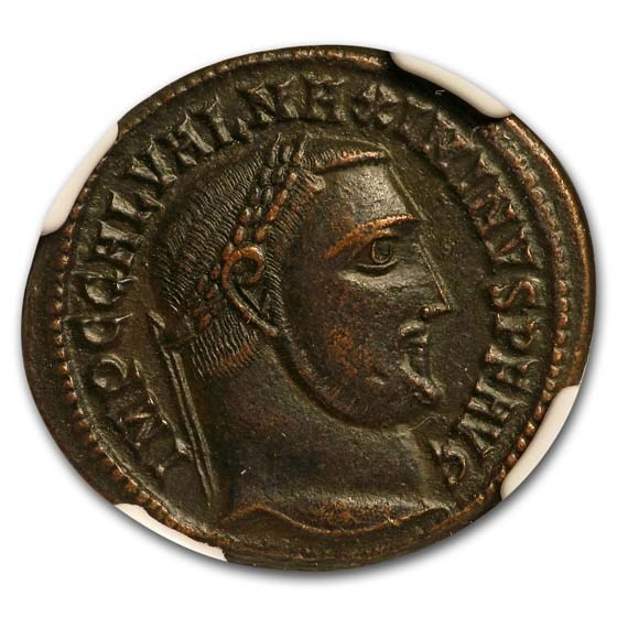 Roman Empire Bi Nummus Maximinius II (310-313 AD) Ch XF NGC