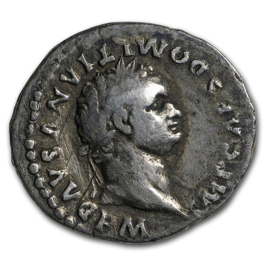 Roman Empire Denarius Emperor Domitian (81-96 AD) VF