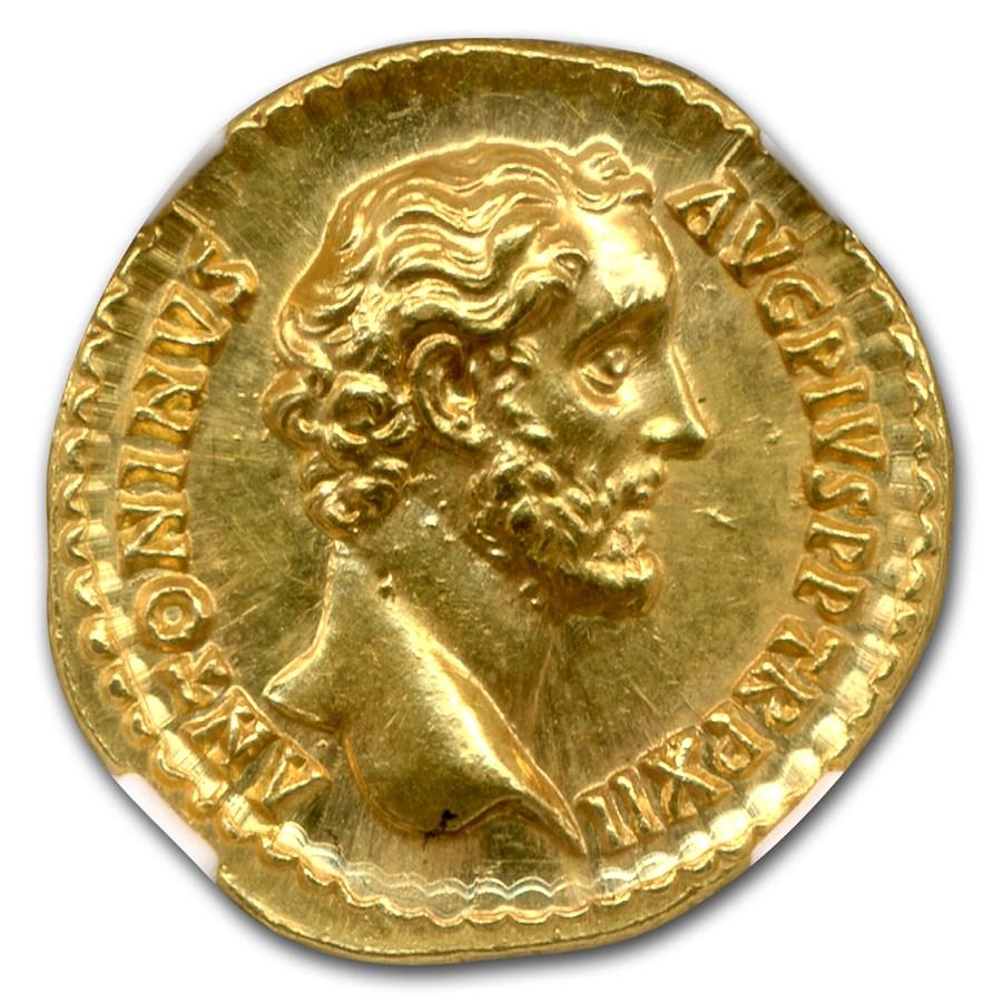 Roman Empire Gold Aureus Antoninus Pius (138-161 AD) MS NGC