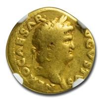 Roman Empire Gold Aureus Nero (54-68 AD) VG NGC (RIC I 61)
