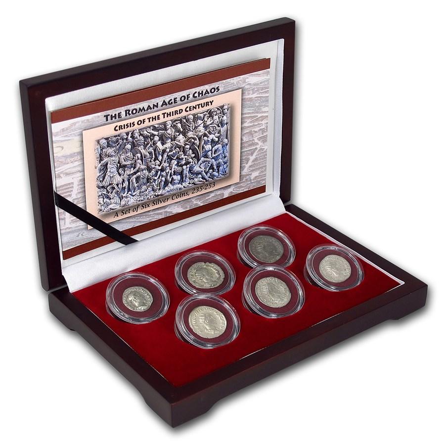 Roman Empire Silver 6-Coin Collection The Age of Chaos