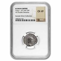 Roman Empire Silver Dbl Denarius Philip I (244-249 AD) Ch VF NGC