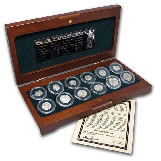 Roman Empire Silver Denarii 12 Emperor Collection