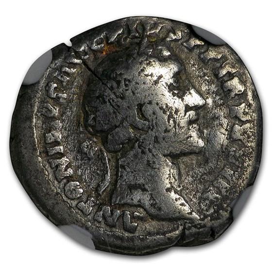 Roman Empire Silver Denarius Antoninus Pius (138-161 AD) NGC