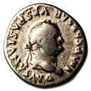 Roman Empire Silver Denarius Vespasian (76 AD) VG-VF (RIC II 852)
