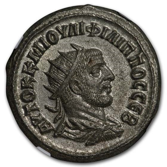 Roman Empire Tetradrachm Emp. Phillip I (244-49 AD) Ch AU NGC