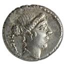 Roman Imperatorial AR Denarius A. Bruti (48 BC) Ch VF (Cr-450/2)