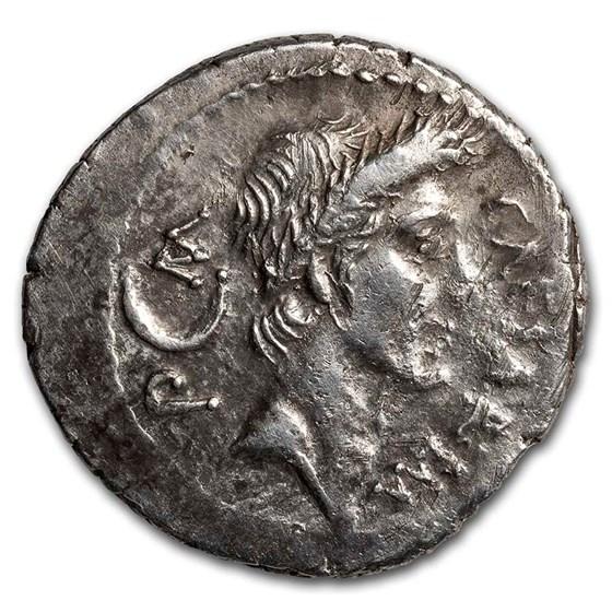 Roman Imperatorial AR Denarius Julius Caesar (d.44 BC) XF NGC