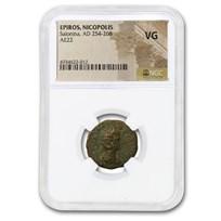 Roman Province Epiros AE 22 Salonina (254-268 AD) VG NGC