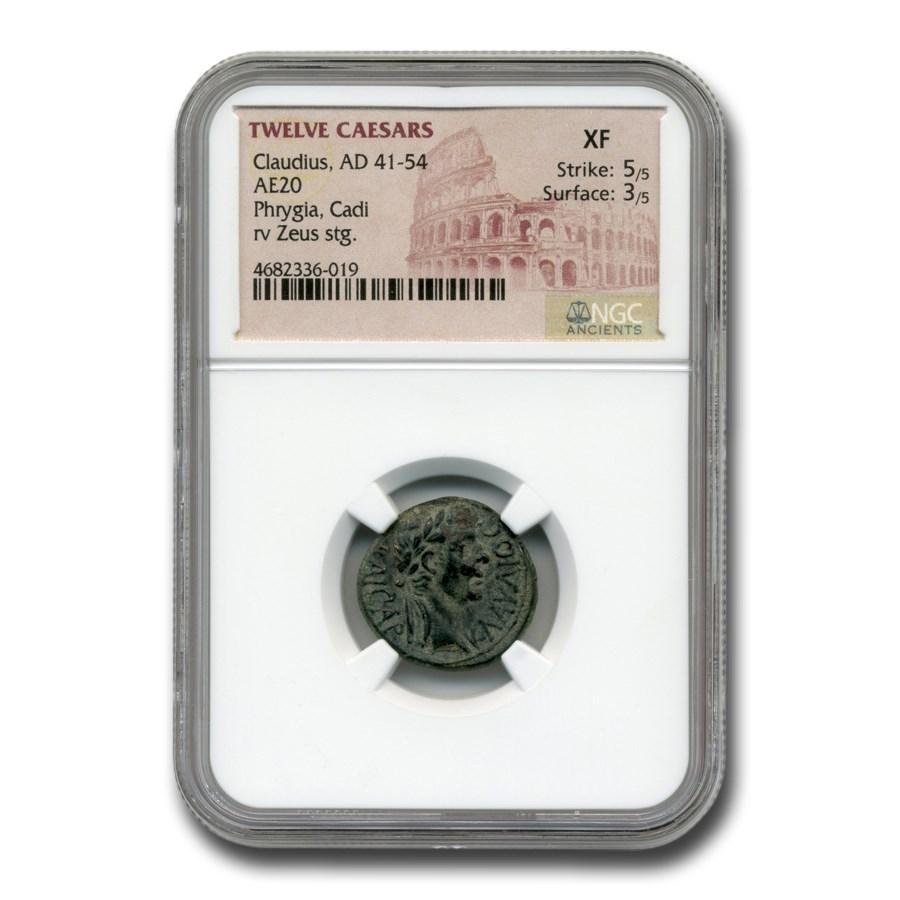 Roman Provinces AE 20 Emperor Claudius (41-54 AD) XF NGC