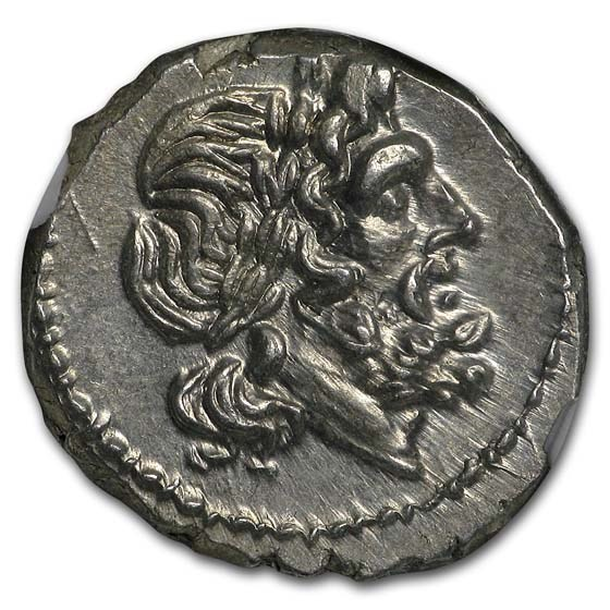 Roman Rep. Silver Victoriatus (211-208 BC) MS NGC Fine Style