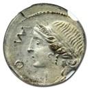 Roman Republic AR Denarius (114-113 BC) XF NGC (Brockage Error)