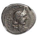 Roman Republic AR Denarius (82-81 BC) Ch VF NGC (Cr-366/3b)