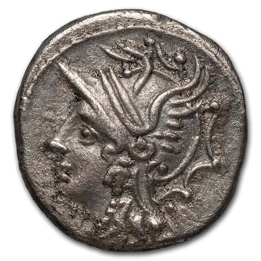 Roman Republic AR Denarius C. Caldus (104 BC) XF (Cr-318/1a)