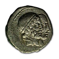 Roman Republic AR Denarius C. Censorinus (88 BC) Ch VF