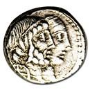 Roman Republic AR Denarius C. Censorinus (88 BC) XF (Cr-346/1b)