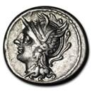 Roman Republic AR Denarius C. Coelius Caldus (c. 104 BC) CH VF