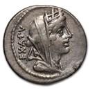 Roman Republic AR Denarius C. Fabius (C.104 BC) XF (Cr-322/1b)