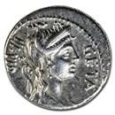 Roman Republic AR Denarius C.Hosidius (68 BC) XF