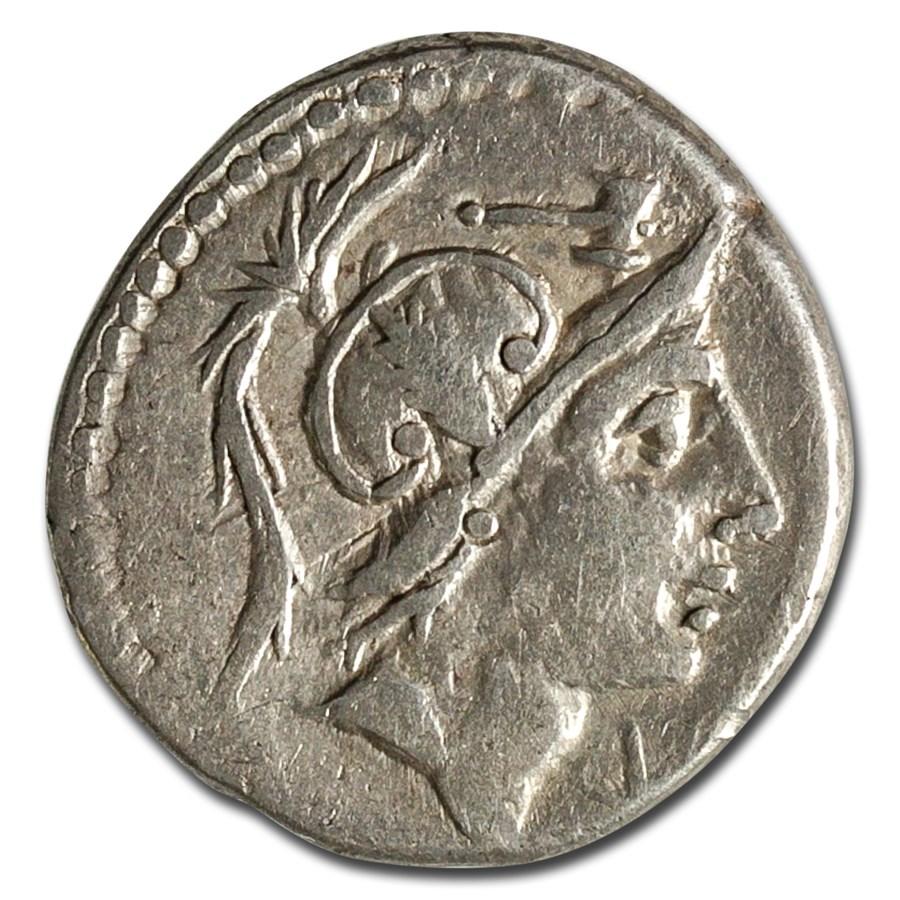 Roman Republic AR Denarius C. Malleolus (96 BC) VF (Cr-335/3b)