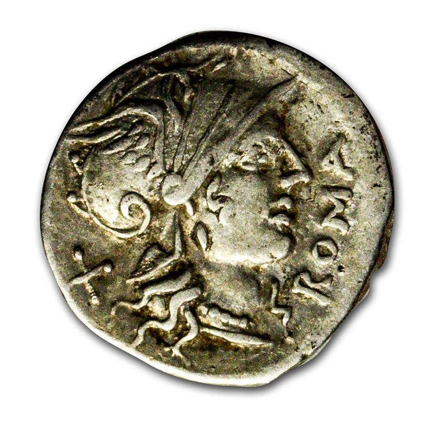 Roman Republic AR Denarius D. Ahenobarbus (116-115 BC) Ch VF